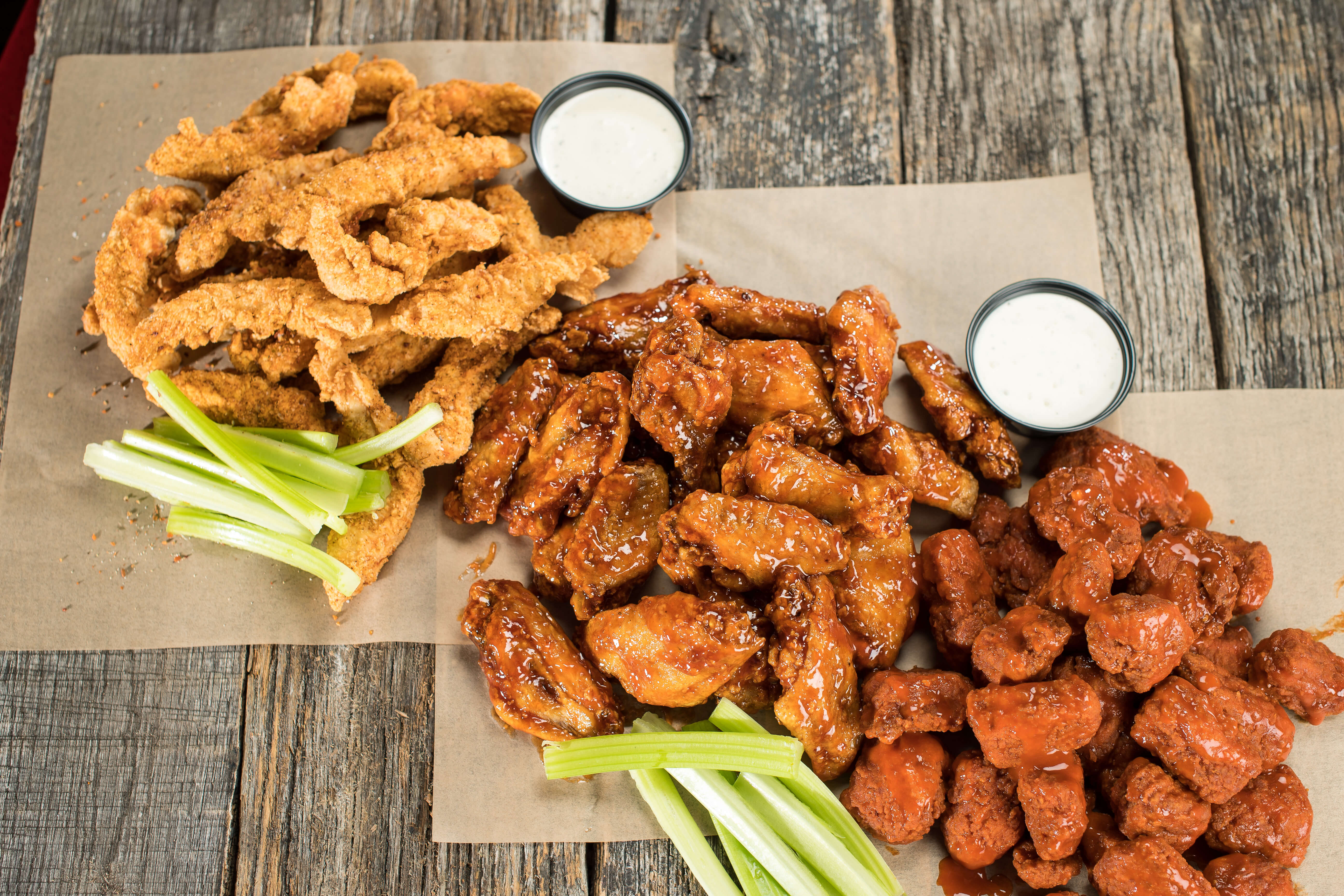 Native offers traditional wings, boneless wings and their signature Native Style Chicken Strippers.