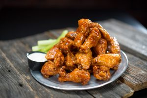 Traditional wings in Native's honey hot sauce.