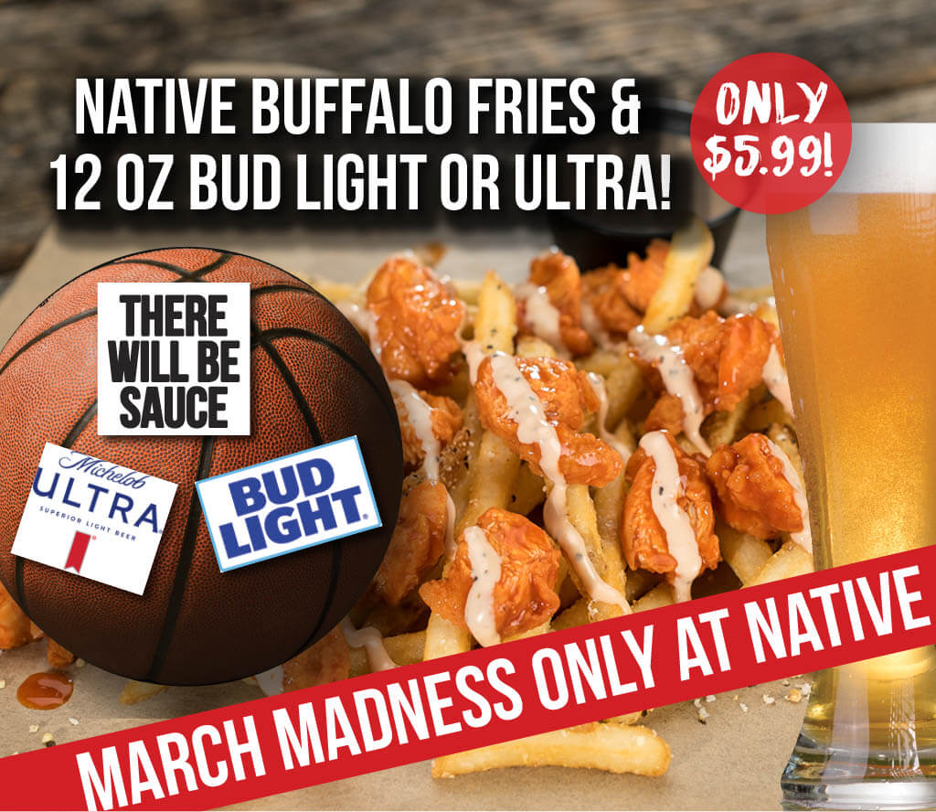 March Madness Buffalo Fries and beer 41024 1