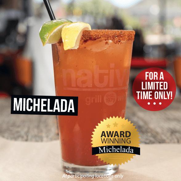 Award Winning Michelada at Native