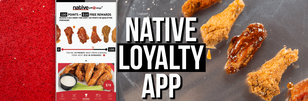 Native Grill & Wings Loyalty App